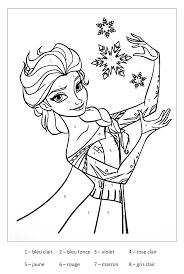 Magique Reine Des Neiges Coloriage Magique Coloriages Pour Enfants