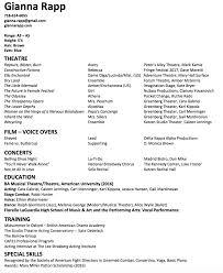 Sample Headshot Resume Headshot Resume Format 24x24 Page Child Actor Seductive Acting 23