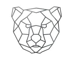 on geometric bear wall art with steel geometric bear wall art metal wall art metal art