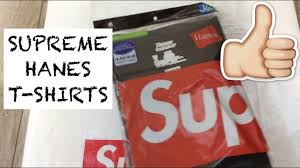 Supreme Hanes T Shirts Box Logo Unboxing Sizing Advice And Review