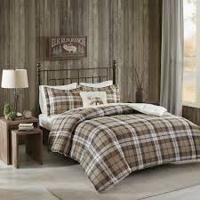 rock ridge softspun down alternative comforter set khaki twin face material 100 percent polyester by woolrich com
