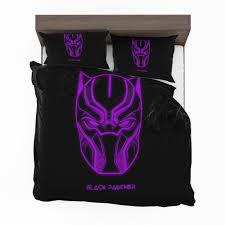 purple black dark bedding set black