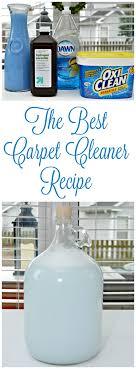 the best homemade carpet cleaner recipe