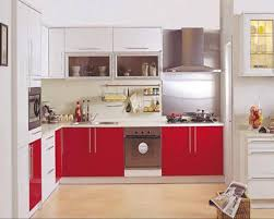 Red White Kitchen Red Kitchen Cabinets Ideas Island Kitchen Idea
