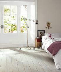 White Limed Oak Camaro Wood Plank Vinyl Flooring   For Bedroom