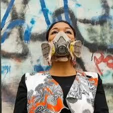 Image result for فنانة الجرافيتي أصيل دياب