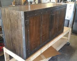industrial media furniture. bois rcupr rustique industrial media cabinet 043 style furniture e
