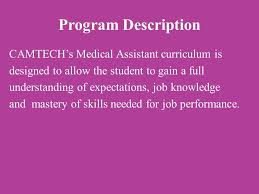 Train For A Career In Medical Assisting At Camtech Ppt