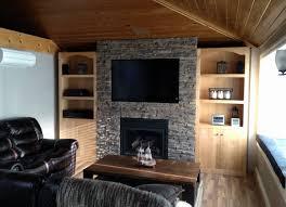 trendy rustic fireplace