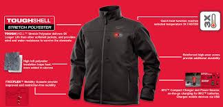 Milwaukee Heated Jacket Light Colors M12 Heated Toughshell Jacket Black L Kit Construction