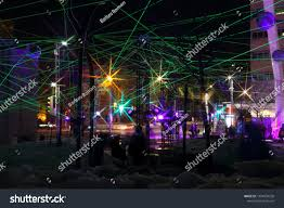 Arts Outdoor Lighting Technology Montreal Festival Lights Colorful Illuminated Silhouettes