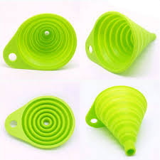 mini silicone collapsible style funnel hopper kitchen cooking tools accessories gadgets outdoor