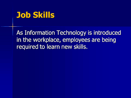 What Are Some Job Skills Information Technology Job Skills And Careers Job Skills