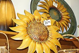 metal sunflower wall decor humorous plaques art erfly