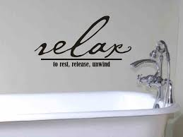 bathroom wall decor pictures. New Ideas Bathroom Wall Decor Quote Relax To Rest Release By Vgwalldecals Pictures