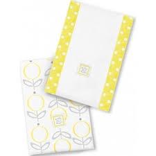 <b>Полотенчики SwaddleDesigns Baby Burpie</b> Set Yellow Lolli Fleur ...