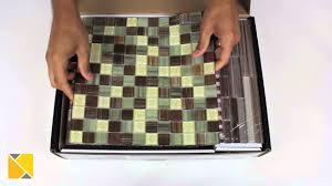 Peel And Stick Kitchen Tile Diy Backsplash Peel And Stick Glass Tile Kit Review Youtube