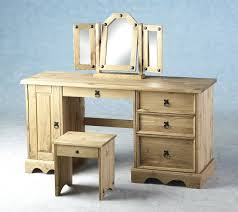 vanity table plans corona mexican pine computer desk dressing p bedroom set