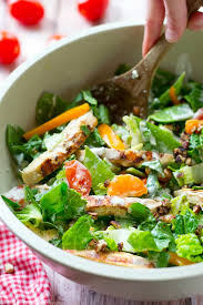 fresh garden salad with chicken. Perfect Fresh Grilled Ranchmarinated Chicken A Rainbow Of Fresh Veggies And Lots  Ranch Dressing In Fresh Garden Salad With Chicken