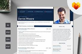 Front End Developer Resume PSD Resume Templates Creative Market Gorgeous Developer Resume