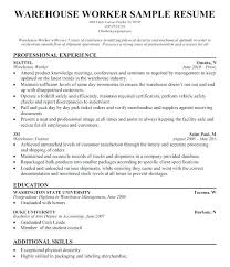 Warehouse Associate Job Description Interesting Forklift Resume Warehouse Forklift Operator Job Description For