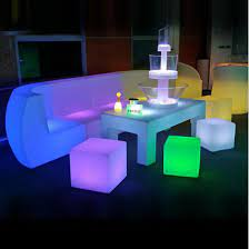 furniture patio sectional light up led