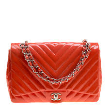 chanel c quilted patent leather chevron jumbo classic flap bag nextprev prevnext