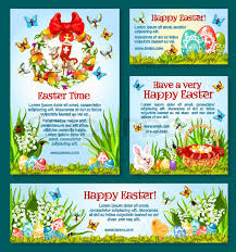 Easter Greeting Card Template Beauteous Easter Holiday Greetings Banner Template Easter Egg Hunt