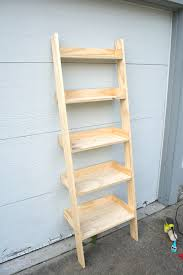 how to build a diy leaning ladder shelf