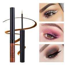 Jednoduché Modré Bílé červené Make Up Vodotěsné Hnědé Oční Linky Kapalné Matné Oční Stíny Oční Linky 12 Barev At Vova