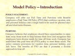 Paid Time Off Form Template Pto Policy Template Mrozy Info