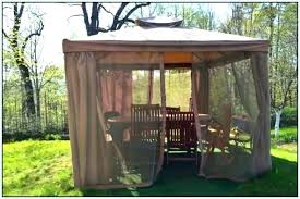 outdoor mosquito netting gazebo with patio fabric