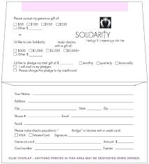 Donation Pledge Card Template Wedding Cards Templates Invitation