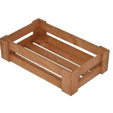 wooden crates for ambient shelving