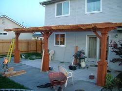 wood patio cover ideas. Easy To Build Yourself, A Pergola Type Wood Patio Cover Provides Plenty Of Shade. Ideas