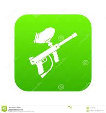 Cool Paintball Gun Designs Paintball Marker Icon Digital Green Stock Vector