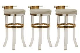 lucite brass counter stools red modern furniture brass furniture