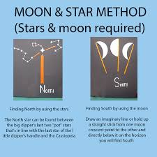 outdoor activities alternative tourism in direction using stars and moon