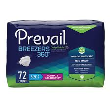Prevail Breezers 360 Size Chart Prevail Breezers 360 Ultimate Absorbency Incontinence Briefs Size 2 72 Count