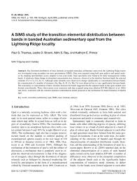 A SIMS study of the transition elemental distribution between bands in  banded Australian sedimentary opal from the Lightning Ridge locality -  Neues Jahrbuch für Mineralogie - Abhandlungen Band 182 Heft 2 —  Schweizerbart science publishers