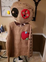 burlap voodoo doll plus size costume