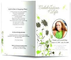 Free Funeral Program Template Word Templates Memorial Bulletin Here