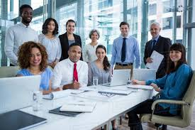 Portrait Of Smiling Business People In Office 808713