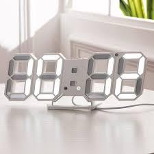 3d led alarm clock modern digital wall