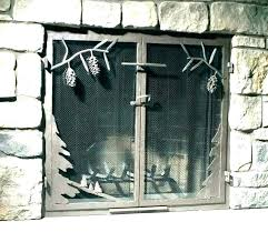 fireplace screen glass fireplace screen and glass doors free standing fireplace screens glass fireplace screen fireplace