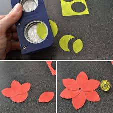 Flower Paper Punch Tool Circle Punch Tricks With Aly Dosdal And One More Card