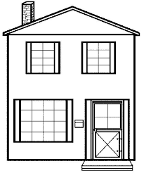Small Picture House Coloring Page Haunted Colouring 1 460gifitokODoSAv6k