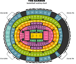 Detailed Msg Seating Chart For Ufc Madison Square Garden