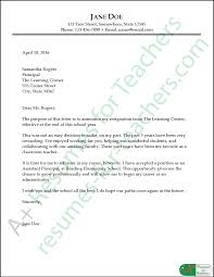 Sample Resignation Letter Example Teacher Resignation Letter Sample And Writing Tips 18