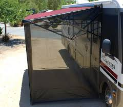 full image for rv awning screen side panels solar screens